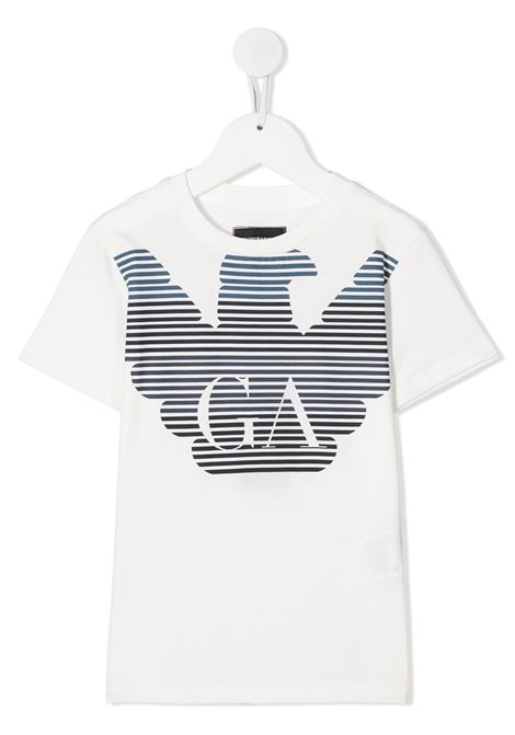 T-SHIRT BIANCA GIORGIO ARMANI KIDS | T-shirt | 6H4TQ71J00Z0101