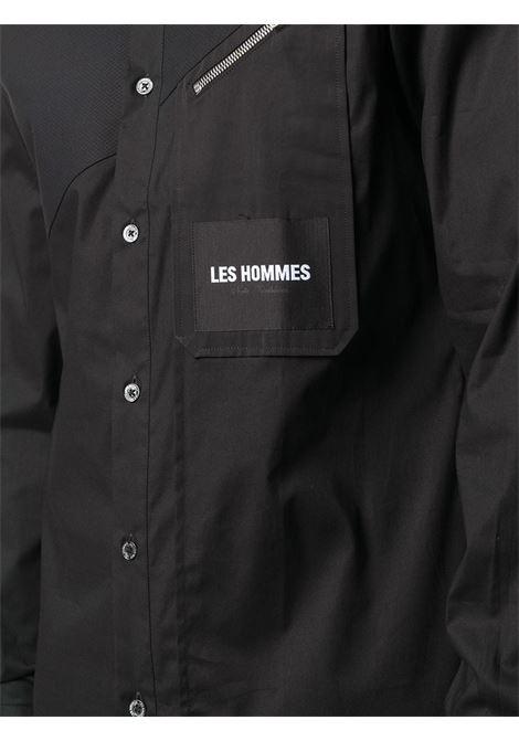 CAMICIA NERA LES HOMMES   Camicia   LJS406403I9000