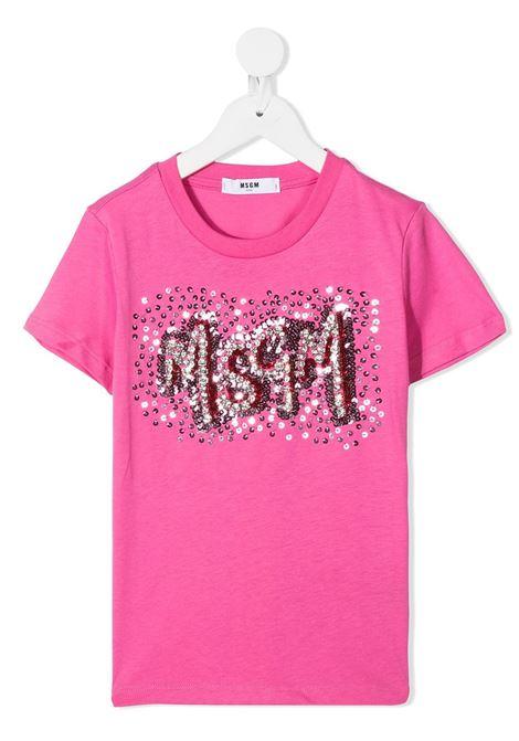 t-shirt fucsia MSGM kids | T-shirt | 025170045#