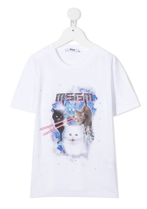 T-SHIRT BIANCA MSGM kids | T-shirt | 025861001#