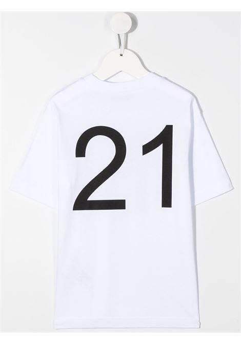 T-SHIRT BIANCA N°21 KIDS | Maglia | N214DBN0003N21T64UN100#
