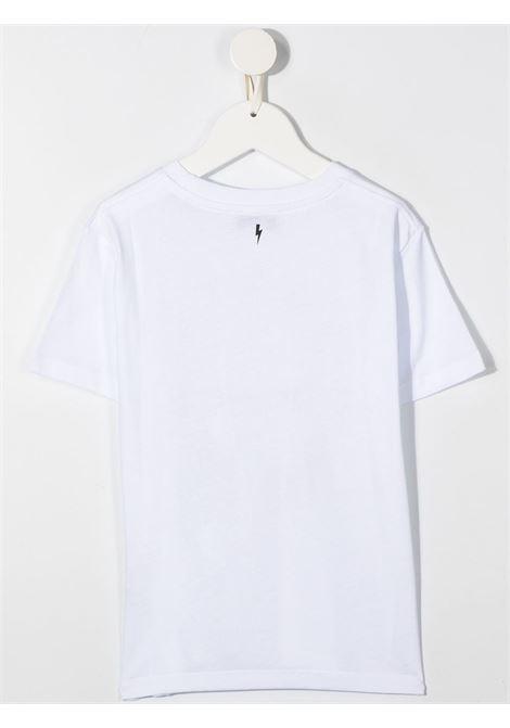 maglia bianca NEIL BARRETT KIDS | T-shirt | 026010001#