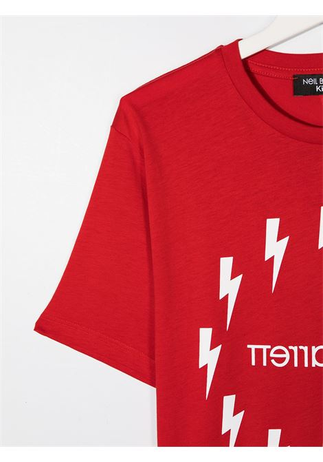 maglia rossa NEIL BARRETT KIDS   T-shirt   026010040##