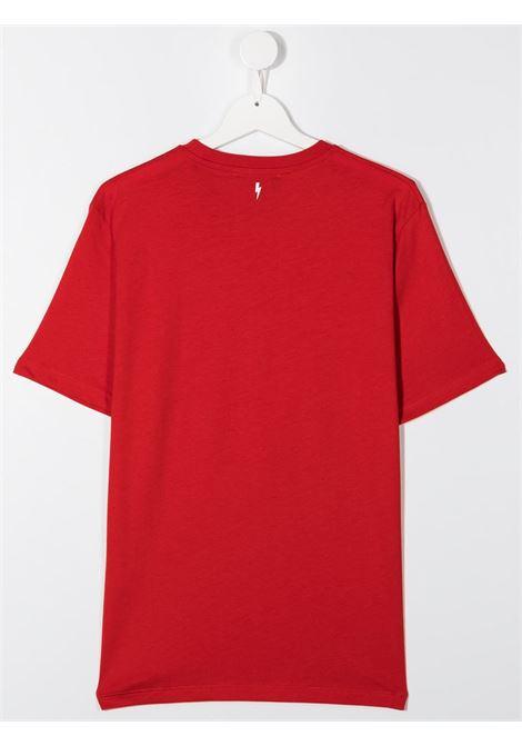 maglia rossa NEIL BARRETT KIDS | T-shirt | 026010040##