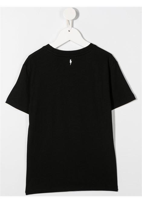 maglia nera NEIL BARRETT KIDS   T-shirt   026010110#
