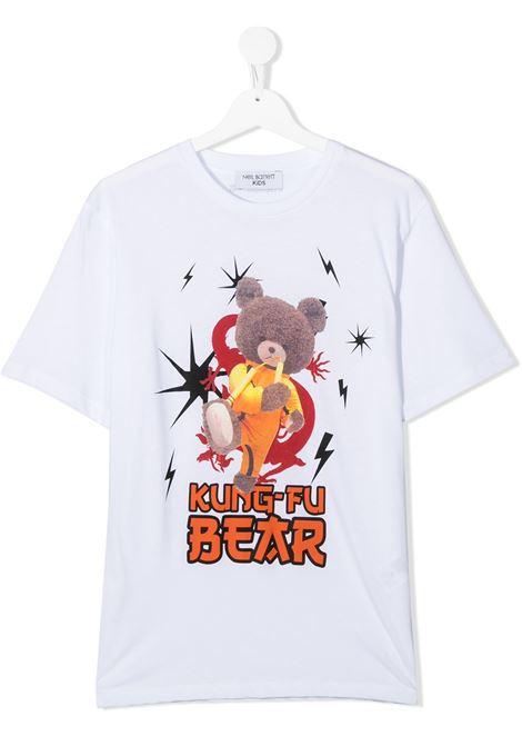 maglia bianca NEIL BARRETT KIDS | T-shirt | 026016001##