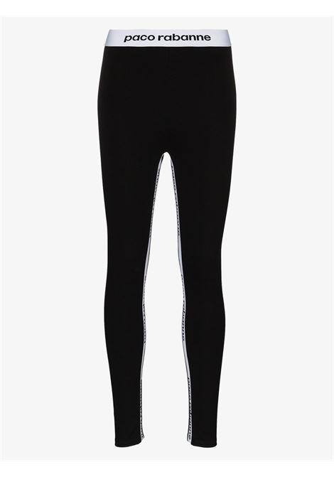 leggings nero PACO RABANNE | Leggings | 19EJPA001VI0071001