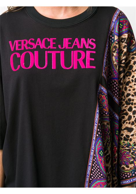 MAGLIA NERA VERSACE JEANS COUTURE | T-shirt | B2.HZA701.S0814730