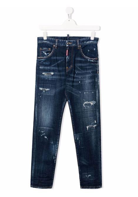 DENIM ROTTURE DSQUARED KIDS | Jeans | D2P224UDQ03NPD007SDQ01##
