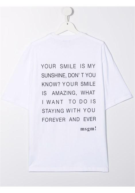 T-SHIRT LOGO MSGM kids | T-shirt | MS027940001##