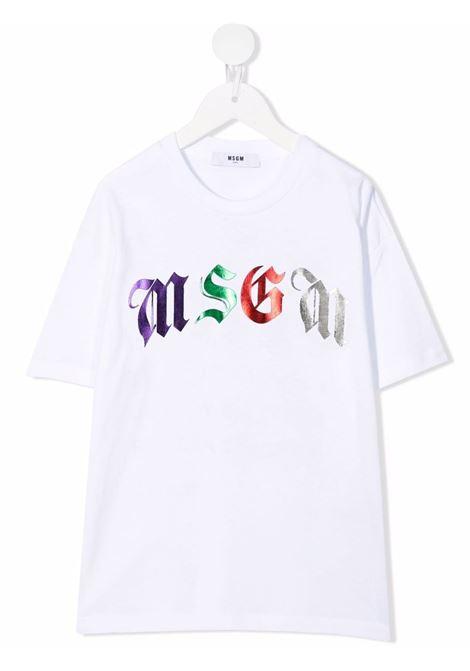 T-SHIRT LOGO MSGM kids | T-shirt | MS027940001#