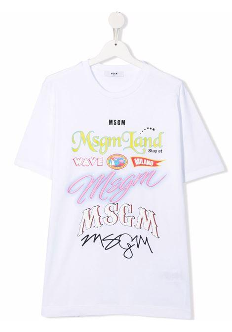 T-SHIRT STAMPA MSGM kids | T-shirt | MS028721001##