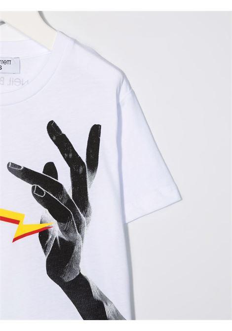 THUNDERBOLT HAND TEE NEIL BARRETT KIDS   T-shirt   028935001#