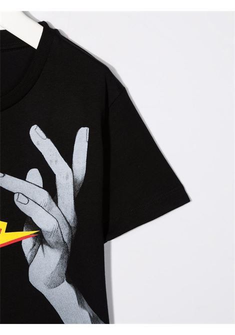 THUNDERBOLT HAND TEE NEIL BARRETT KIDS   T-shirt   028935110#