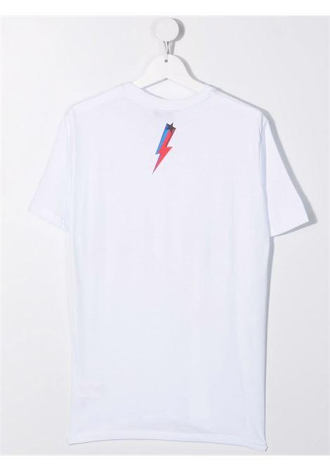 LOGO STAR PRINT TEE NEIL BARRETT KIDS | T-shirt | 028938001##