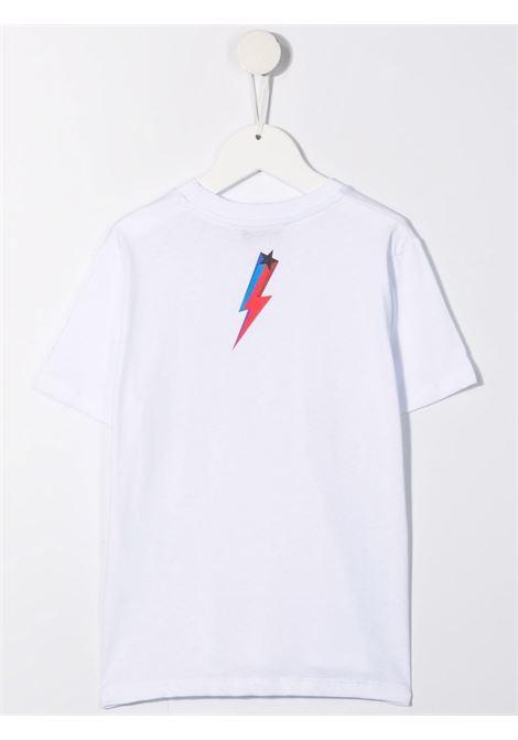LOGO STAR PRINT TEE NEIL BARRETT KIDS | T-shirt | 028938001#