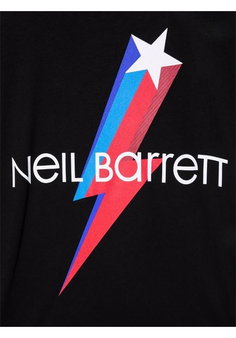 LOGO PRINT STAR TEE NEIL BARRETT KIDS | T-shirt | 028938110##