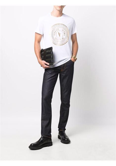 T-SHIRT LOGO VERSACE JEANS COUTURE | T-shirt | 71GAHT12CJ00TG03