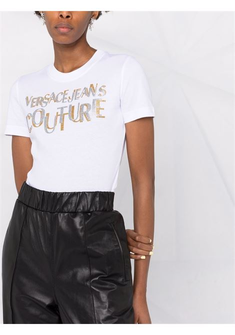T-SHIRT DOPPO LOGO VERSACE JEANS COUTURE | T-shirt | 71HAHT02CJ00TG03