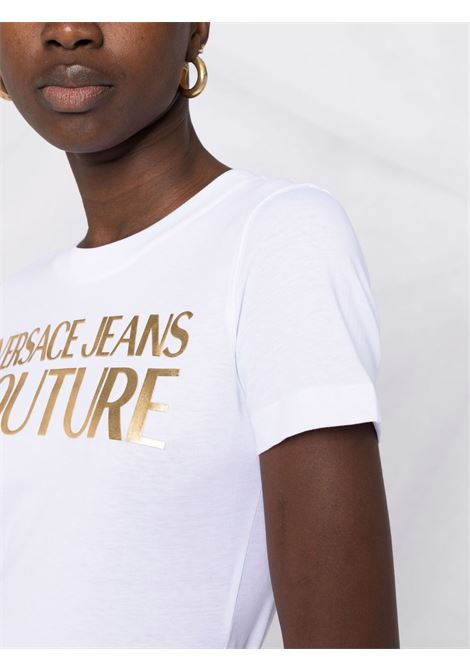 T-SHIRT LOGO ORO VERSACE JEANS COUTURE | T-shirt | 71HAHT04CJ00TG03