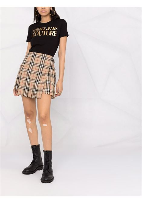 T-SHIRT LOGO ORO VERSACE JEANS COUTURE | T-shirt | 71HAHT04CJ00TG89