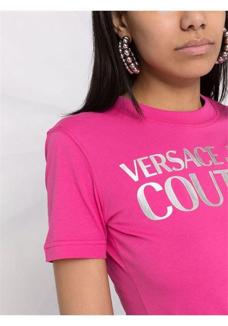 T-SHIRT LOGO ORO VERSACE JEANS COUTURE | T-shirt | 71HAHT04CJ00TS55