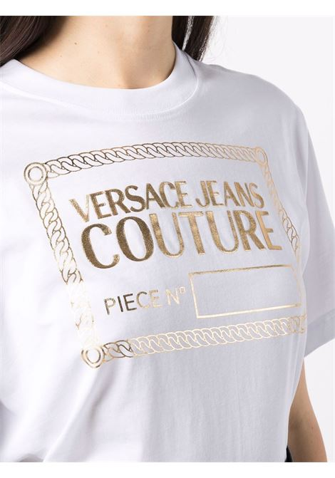T-SHIRT STAMPA ORO VERSACE JEANS COUTURE | T-shirt | 71HAHT13CJ00TG03