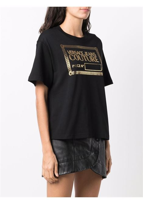 T-SHIRT STAMPA ORO VERSACE JEANS COUTURE | T-shirt | 71HAHT13CJ00TG89