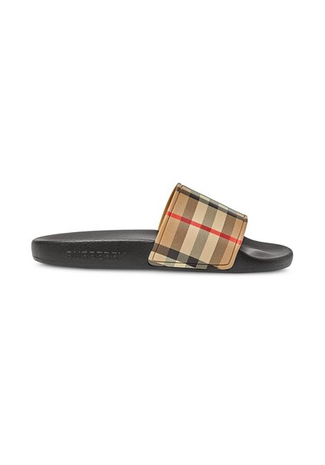 SLIPPERS CHECK BURBERRY KIDS | Sandalo | 8027070A7026