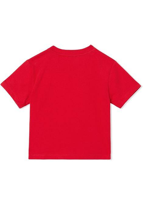 maglia rossa BURBERRY KIDS | T-shirt | 8031562A1460