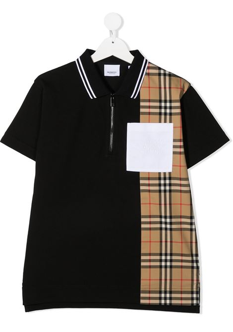 polo nera BURBERRY KIDS | Polo | 8036416A1189##
