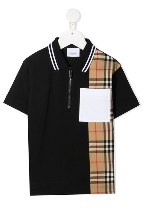 polo nera BURBERRY KIDS | Polo | 8036416A1189#