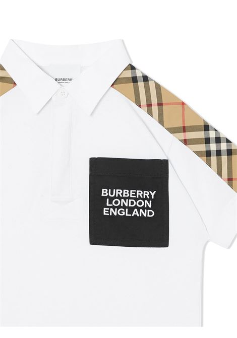polo bianca BURBERRY KIDS | Polo | 8036419A1464#