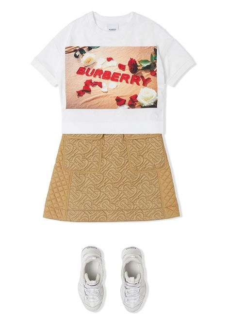 maglia bianca BURBERRY KIDS | T-shirt | 8036910A1464##