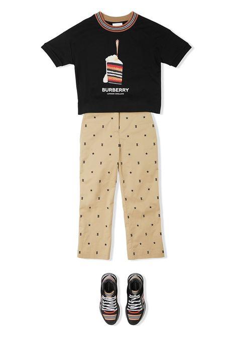 maglia nera BURBERRY KIDS | T-shirt | 8036920A1189#