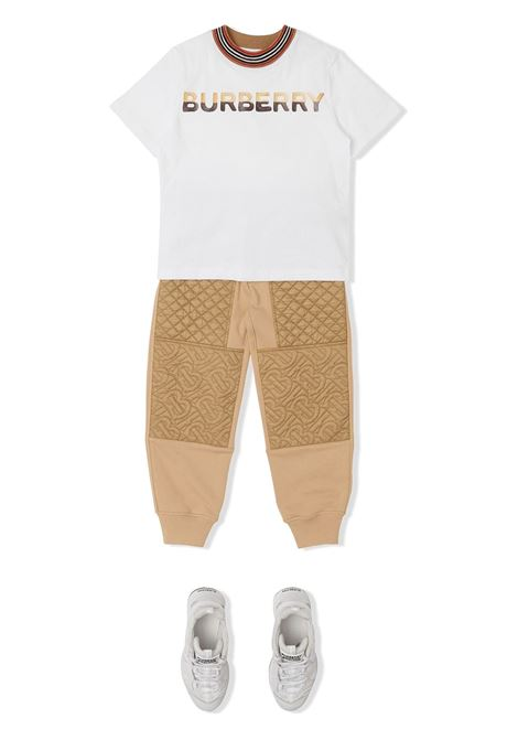 maglia bianca BURBERRY KIDS | T-shirt | 8036937A1464##