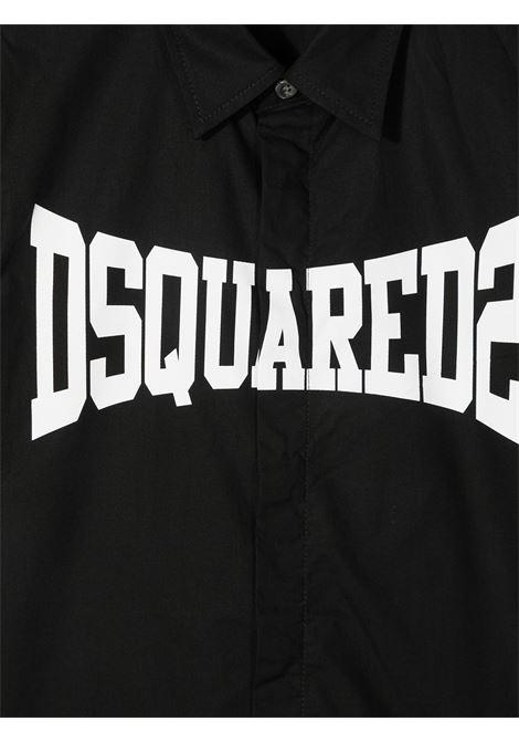 camicia nera DSQUARED KIDS | Maglia | D2C153MDQ0056D00XEDQ900#