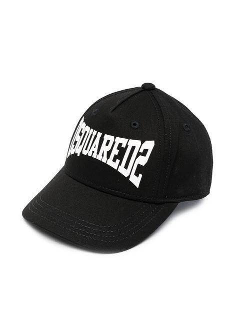 cappello nero DSQUARED KIDS | Cappello | D2F137BDQ0211D00YTDQ900