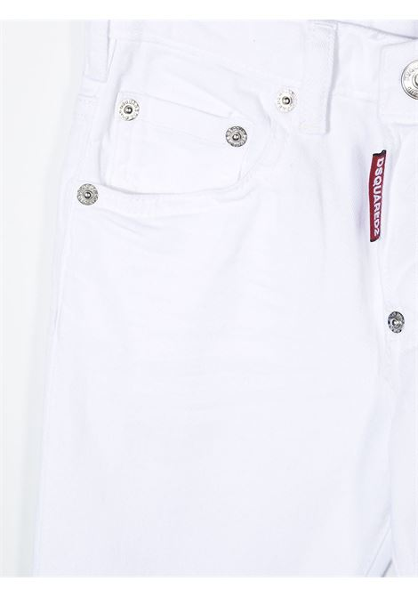 jeans bianco DSQUARED KIDS | Jeans | D2P118SLMDQ0227D00IWDQ100#