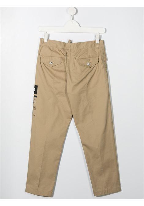 pantalone beige DSQUARED KIDS | Pantalone | D2P317MDQ0076D005SDQ710##