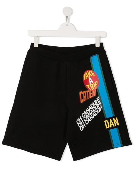 short nero DSQUARED KIDS | Shorts | D2P348UDQ0219D00J7DQ900##