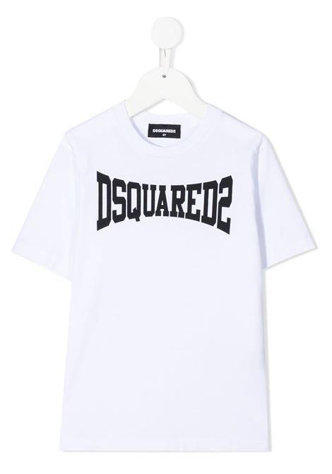 t-shirt bianca DSQUARED KIDS | T-shirt | D2T633MDQ0156D002FDQ100#