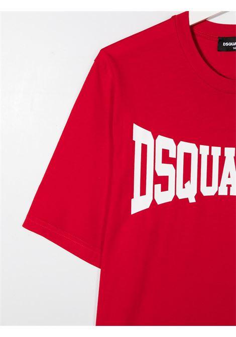 t-shirt rossa DSQUARED KIDS | T-shirt | D2T633MDQ0156D002FDQ405##