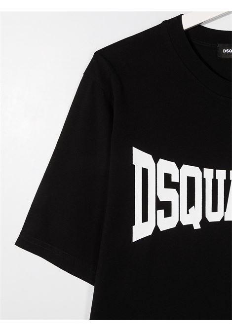t-shirt nera DSQUARED KIDS | T-shirt | D2T633MDQ0156D002FDQ900##