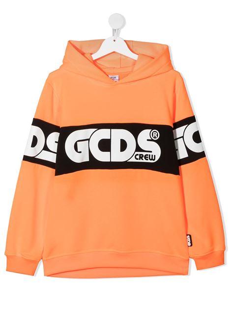 felpa arancio GCDS KIDS | Felpa | 027604FL176##