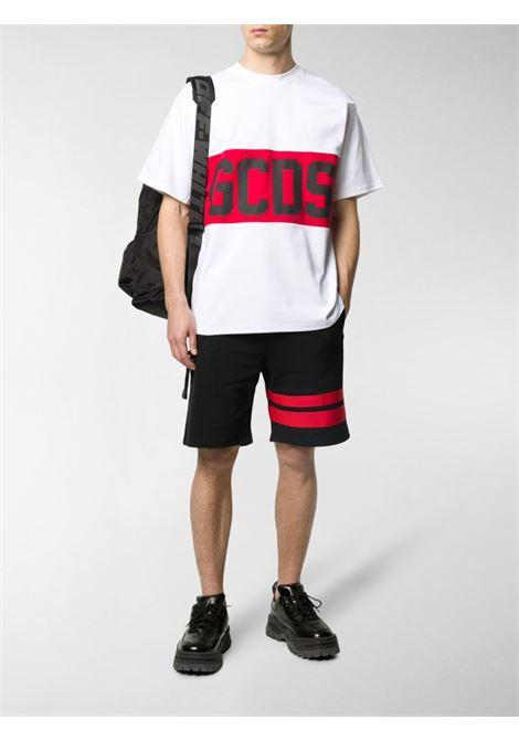 T-SHIRT LOGO BLOCK GCDS | T-shirt | CC94M021014WHITE