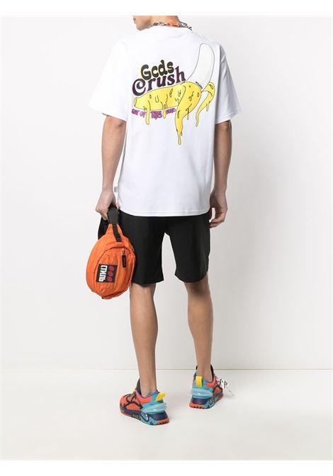T-SHIRT BANANA BACKPRINT GCDS | T-shirt | SS21M020066WHITE