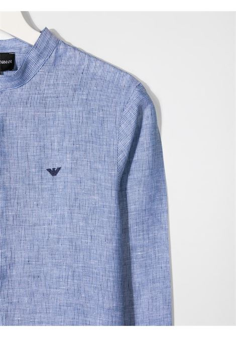 camicia celeste GIORGIO ARMANI KIDS | Camicia | 3K4CJ44N50ZF909##