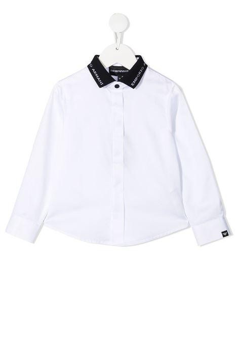 camicia bianca GIORGIO ARMANI KIDS | Camicia | 3K4CP81NXRZ0100#