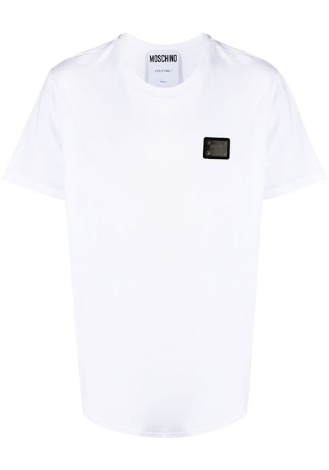 T-SHIRT PLACCA LOGO MOSCHINO   T-shirt   070120401